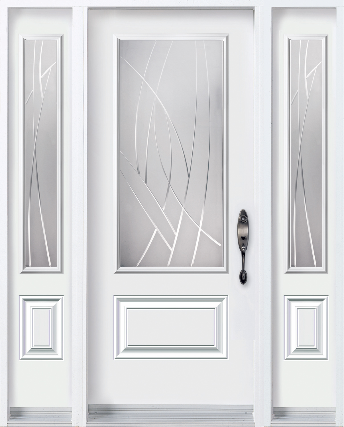 Door with 2 sidelites with Alys glass kit