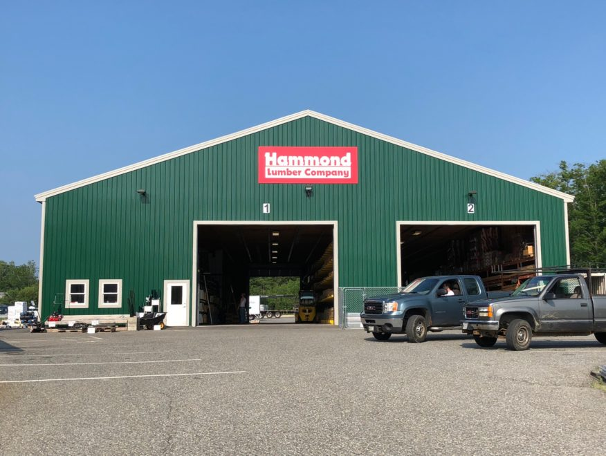 Image of the Hammond EBS in Ellsworth with their drive through lumber yard