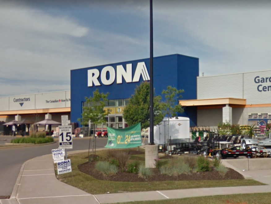 The view of the Rona Welland Store from the Primeway Street